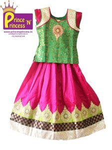 Kids Pattu pavadai pavada traditional ethnic wear