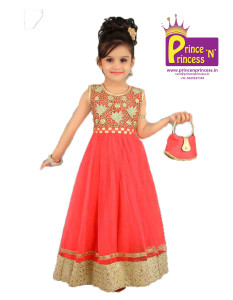 kids western wear long gown party wear