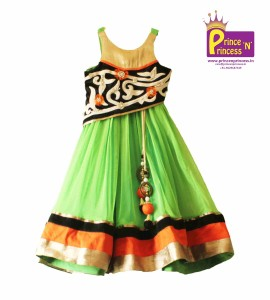 kids western wear long gown party wear girls